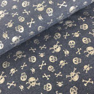 Sweater jeans doodskop zilver