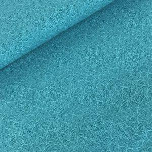 Tricot grafisch aqua