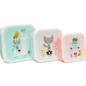 Lunch box set Lama & friends mint