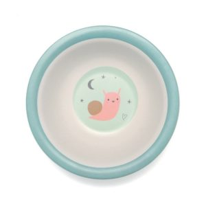 Bamboo bowl bird blue
