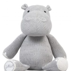 Knuffel soft knit hippo grey
