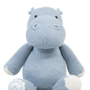 Knuffel soft knit hippo soft blue