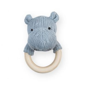 Rammelaar bijtring hippo soft blue
