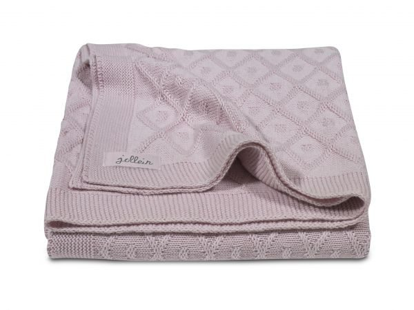 Deken Diamond knit vintage pink