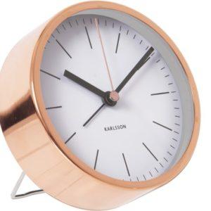 Alarmklok koper/wit