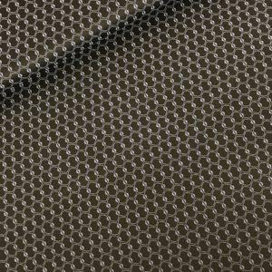 Strechkatoen zwart/blauw geo