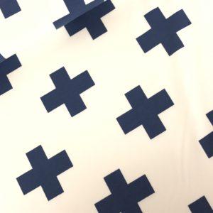 Tricot kruis blauw
