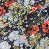 Jaquard bloem blauw