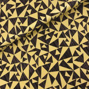 Katoen zwart goud driehoek