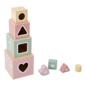 Stapelblokken hout pink