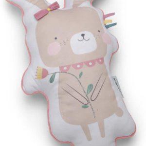Knuffelkussen konijn pink