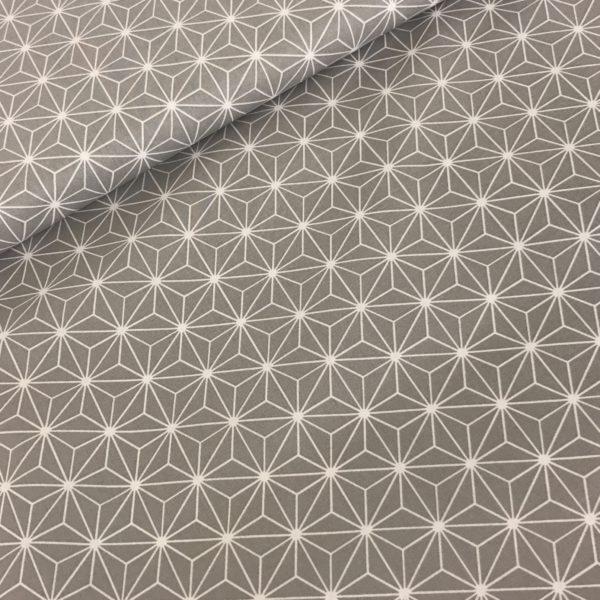 Katoen grafisch grijs