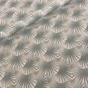 Katoen botanical/goud