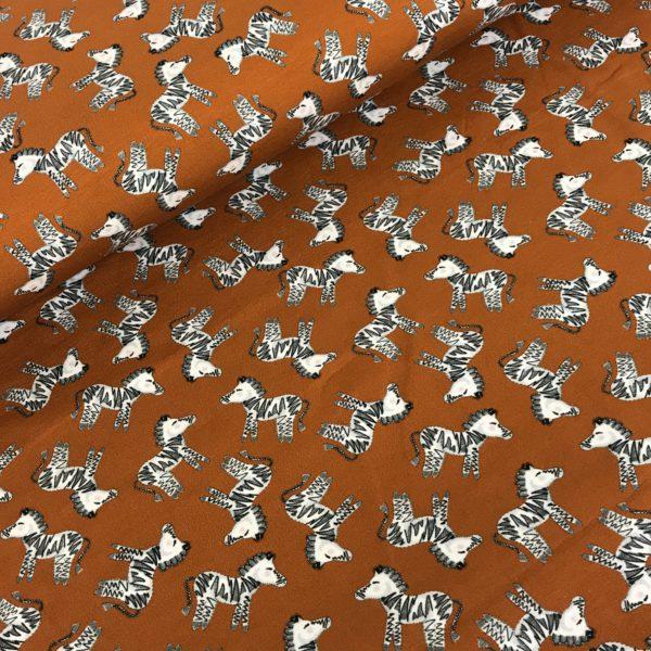 Tricot zebra bruin