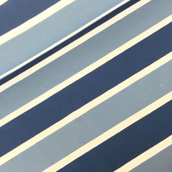 Tricot streep blauw/wit