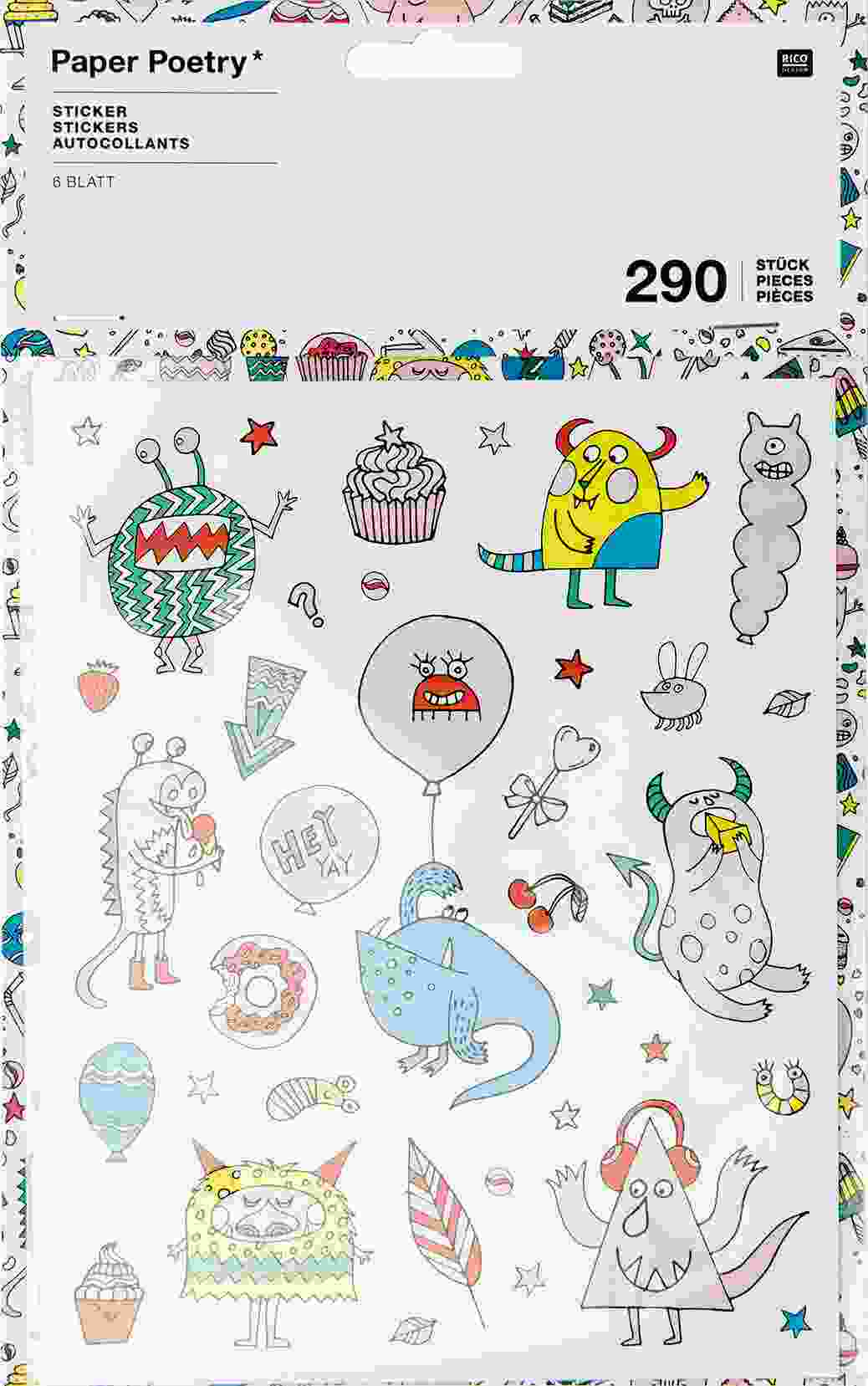 Stickersheet monster