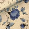 Viscose blauw roos