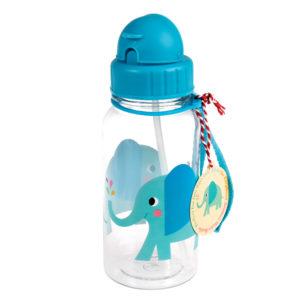 Drinkfles met rietje olifant