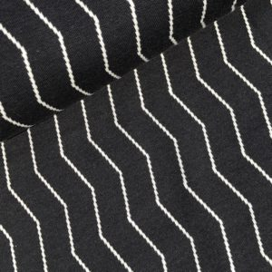 Zigzag cotton jacquard