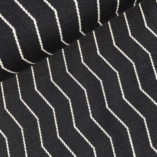 Zigzag cotton jacquard