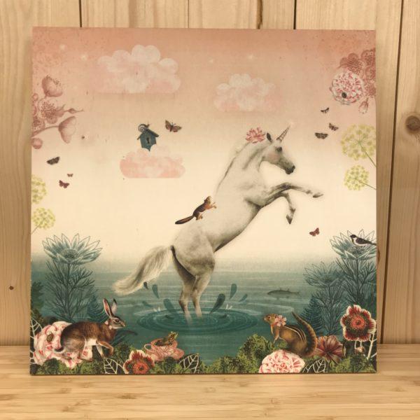 Houten kader unicorn