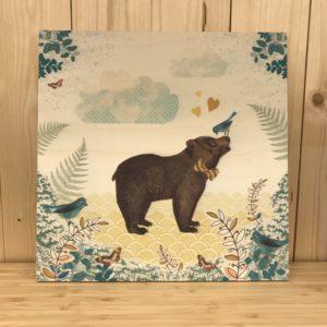 Houten kader bear