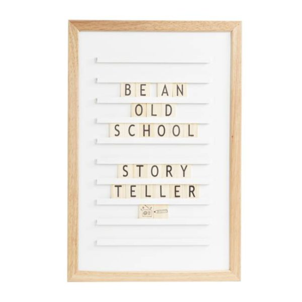 Old school letterboard White