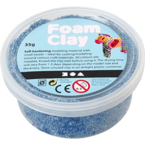 Clay foam Blauw 35gr