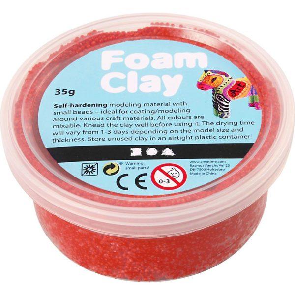 Clay foam rood 35gr