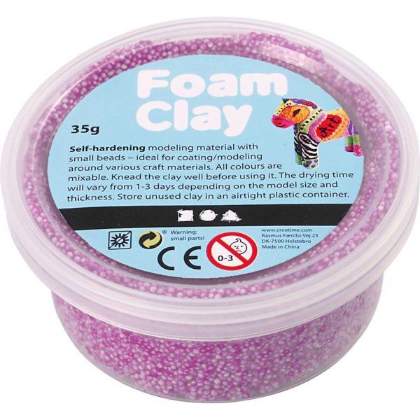 Clay foam paars 35gr