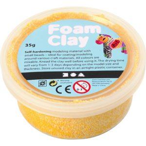 Clay foam geel 35gr