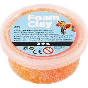Clay foam neon oranje 35gr