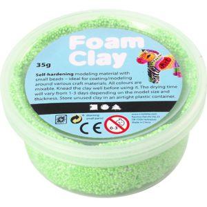 Clay foam neon groen 35gr