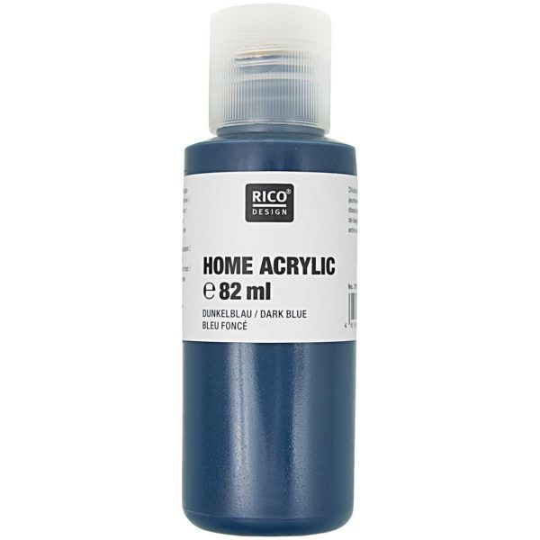 Home acrylic donkerblauw