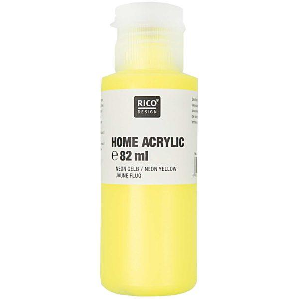 Home acrylic neon geel