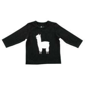 Longsleeve shirt Lama black 74/80