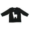 Longsleeve shirt Lama black 62/68