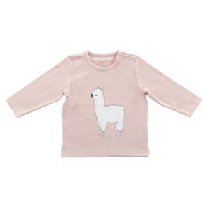 Longsleeve shirt Lama pink 74/80