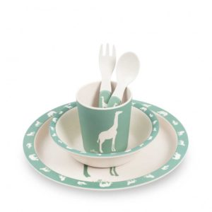 Bamboo dinnerset safari green