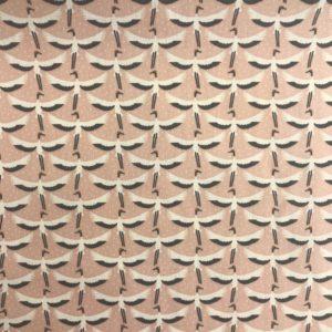 Geplastficeerd katoen vogel roze
