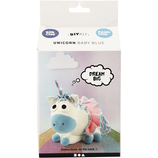 Foamclay set Unicorn Baby blue