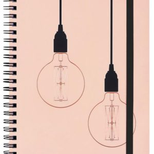 Notebook Pink /copper A5