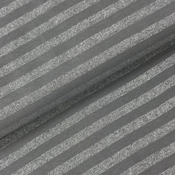 Boordstof glitter grijs/goud