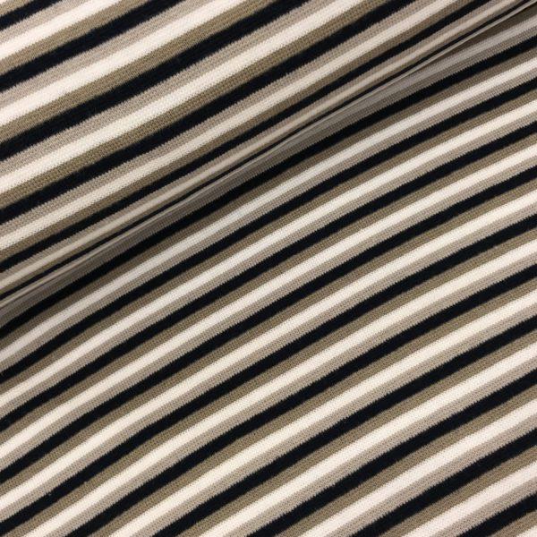 Boordstof streep wit/beige/zwart