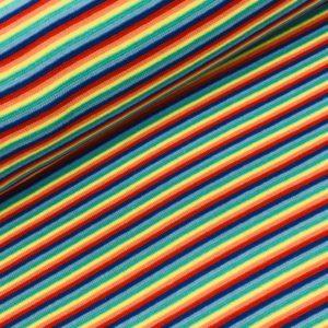 Boordstof streep multicolor
