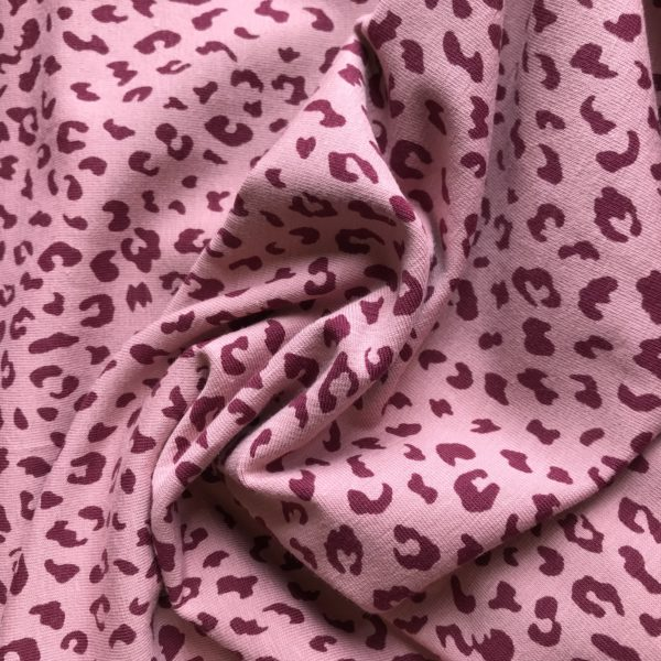 Tricot Leopard oud roze