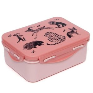 Lunchbox/brooddoos Animals Pink