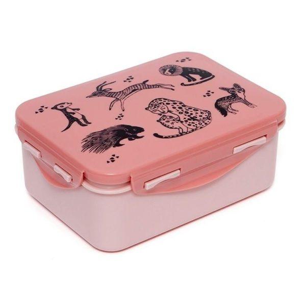Lunchbox/brooddoos Animals Pink