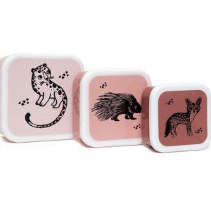 Lunchbox set Animals Pink
