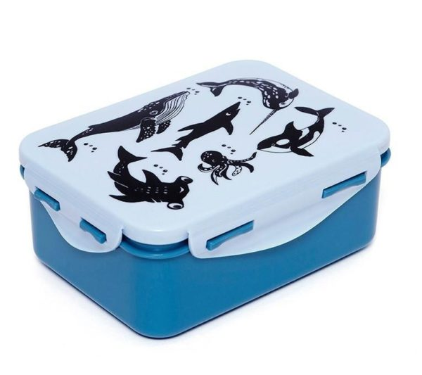 Lunchbox/brooddoos Animals Blue